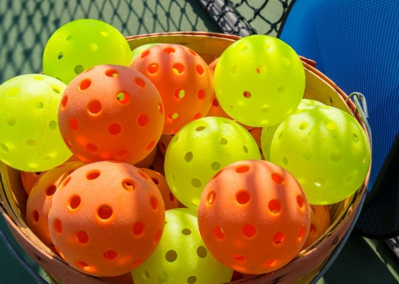 Collection of Pickleball Balls